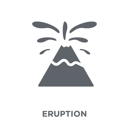 Eruption icon. Eruption design concept from Weather collection. Simple element vector illustration on white background. Illustration