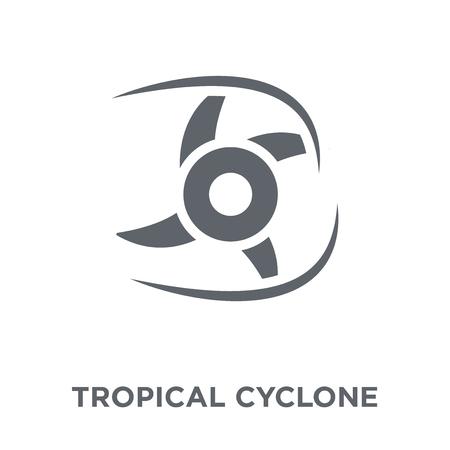 Icône de cyclone tropical. Concept de design de cyclone tropical de la collection Cyclone tropical. Illustration vectorielle élément simple sur fond blanc.