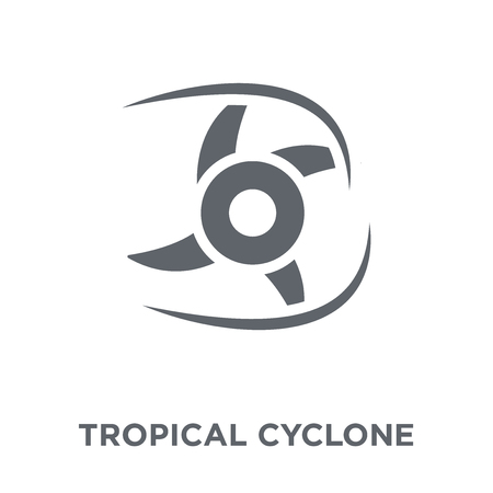 Tropical cyclone  icon. Tropical cyclone  design concept from Tropical cyclone  collection. Simple element vector illustration on white background. Ilustração