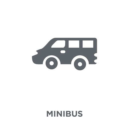 Minibus icon. Minibus design concept from Transportation collection. Simple element vector illustration on white background. Illustration