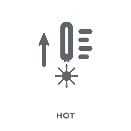 Hot icon. Hot design concept from  collection. Simple element vector illustration on white background.