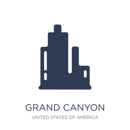 Grand canyon icon. Trendy flat vector Grand canyon icon on white background from United States of America collection, vector illustration can be use for web and mobile, eps10