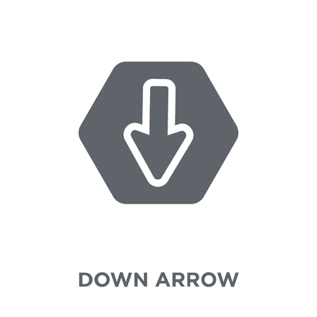 Down arrow icon. Down arrow design concept from  collection. Simple element vector illustration on white background.