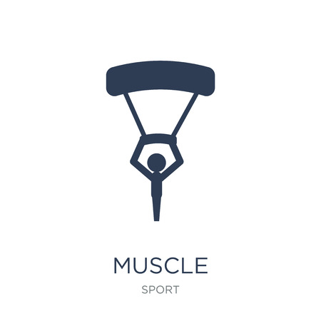 Muscle icon. Trendy flat vector Muscle icon on white background from sport collection, vector illustration can be use for web and mobile, eps10
