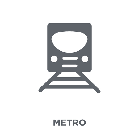 Metro icon. Metro design concept from Transportation collection. Simple element vector illustration on white background.