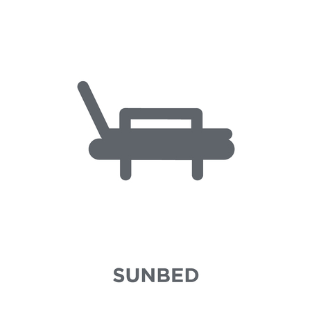 Sunbed icon. Sunbed design concept from  collection. Simple element vector illustration on white background.