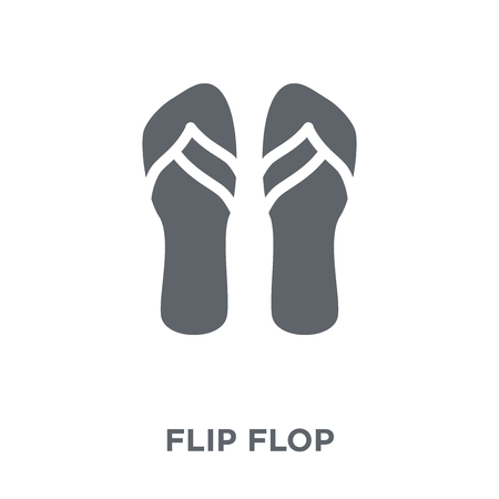 Flip flop icon. Flip flop design concept from  collection. Simple element vector illustration on white background.