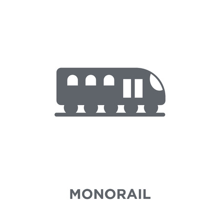 Monorail icon. Monorail design concept from Transportation collection. Simple element vector illustration on white background. Illusztráció