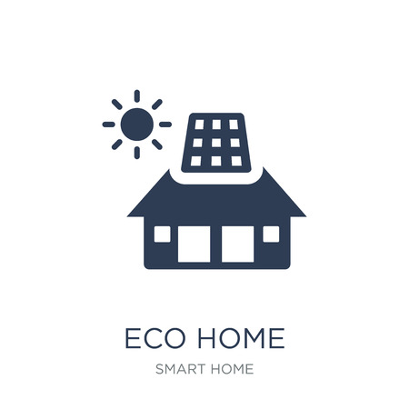 Eco home icon. Trendy flat vector Eco home icon on white background from smart home collection, vector illustration can be use for web and mobile, eps10