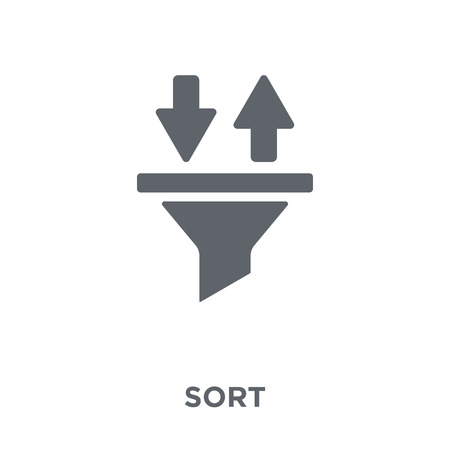 Sort icon. Sort design concept from  collection. Simple element vector illustration on white background.