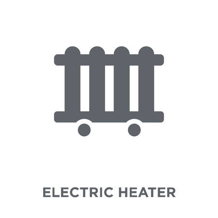 Electric heater icon. Electric heater design concept from Winter collection. Simple element vector illustration on white background.