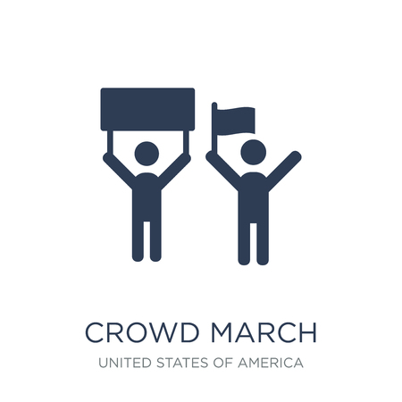 crowd March icon. Trendy flat vector crowd March icon on white background from United States of America collection, vector illustration can be use for web and mobile, eps10