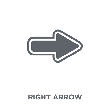 Right arrow icon. Right arrow design concept from  collection. Simple element vector illustration on white background.