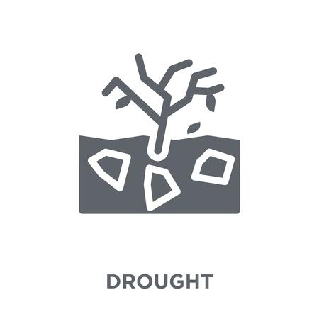 Icona di siccità. Concetto di design di siccità da collezione. Illustrazione vettoriale semplice elemento su sfondo bianco.