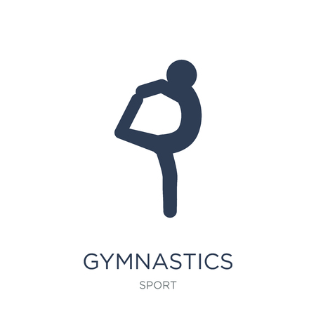 Gymnastics icon. Trendy flat vector Gymnastics icon on white background from sport collection, vector illustration can be use for web and mobile, eps10