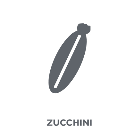 Zucchini icon. Zucchini design concept from Fruit and vegetables collection. Simple element vector illustration on white background. Ilustracja
