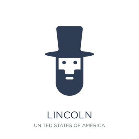 Lincoln icon. Trendy flat vector Lincoln icon on white background from United States of America collection, vector illustration can be use for web and mobile, eps10