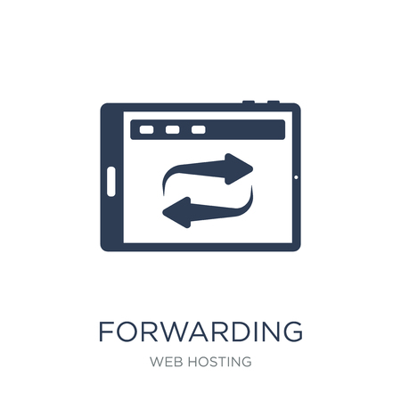 Forwarding icon. Trendy flat vector Forwarding icon on white background from web hosting collection, vector illustration can be use for web and mobile, eps10