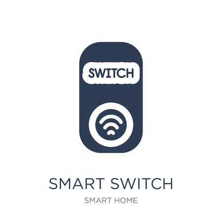 smart Switch icon. Trendy flat vector smart Switch icon on white background from smart home collection, vector illustration can be use for web and mobile, eps10
