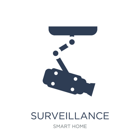 Surveillance icon. Trendy flat vector Surveillance icon on white background from smart home collection, vector illustration can be use for web and mobile, eps10 Illustration
