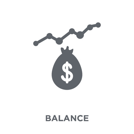 Balance icon. Balance design concept from  collection. Simple element vector illustration on white background. Standard-Bild - 112416261