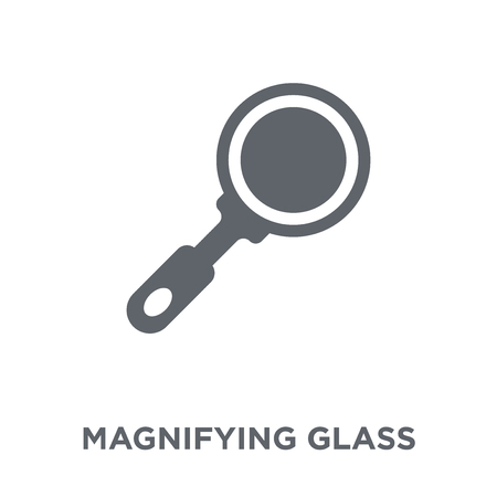 Magnifying glass icon. Magnifying glass design concept from collection. Simple element vector illustration on white background.