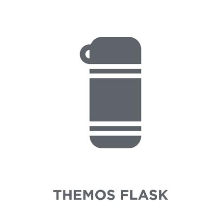 Icône de la fiole Themos. Concept de design Themos Flask de la collection Hiver. Illustration vectorielle élément simple sur fond blanc.