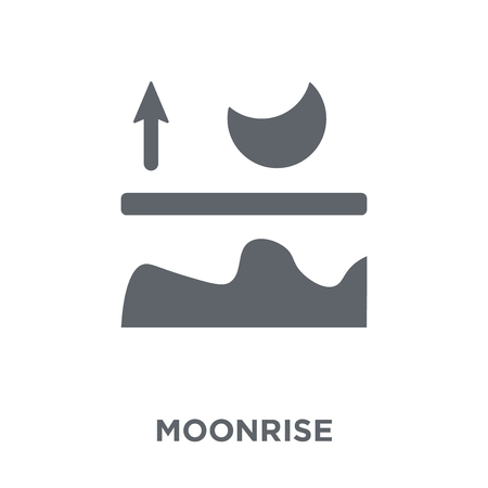 Moonrise icon. Moonrise design concept from Weather collection. Simple element vector illustration on white background.