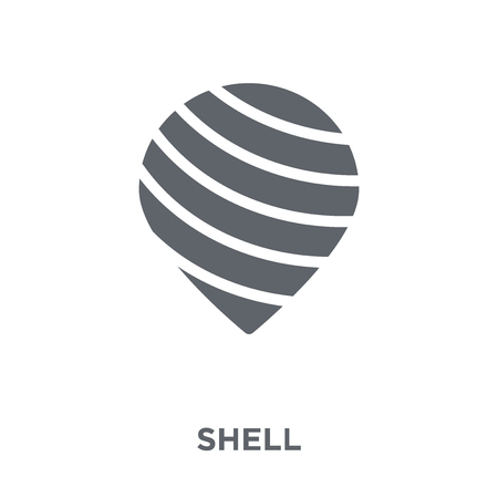 Shell icon. Shell design concept from  collection. Simple element vector illustration on white background.