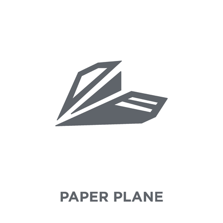 Paper plane icon. Paper plane design concept from  collection. Simple element vector illustration on white background. Stockfoto - 112416251