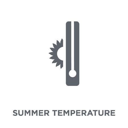 Summer temperature icon. Summer temperature design concept from Summer collection. Simple element vector illustration on white background.