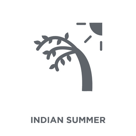 Indian summer icon. Indian summer design concept from Weather collection. Simple element vector illustration on white background. Ilustração