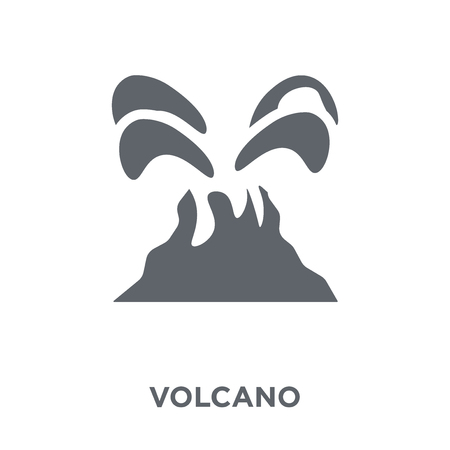 Volcano icon. Volcano design concept from  collection. Simple element vector illustration on white background. Illusztráció