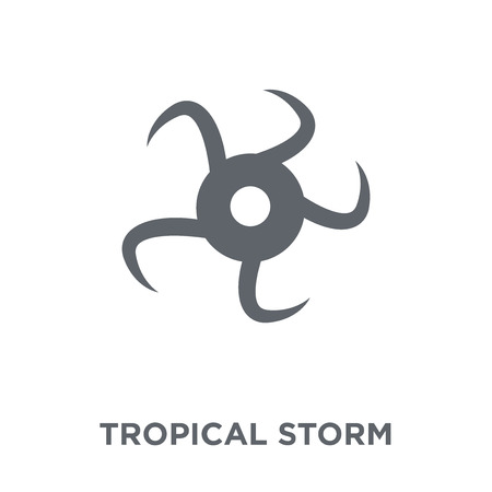 tropical storm icon. tropical storm design concept from Weather collection. Simple element vector illustration on white background. Illustration