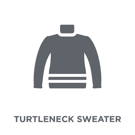 Turtleneck Sweater icon. Turtleneck Sweater design concept from Winter collection. Simple element vector illustration on white background.