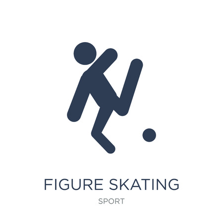 figure skating icon. Trendy flat vector figure skating icon on white background from sport collection, vector illustration can be use for web and mobile, eps10