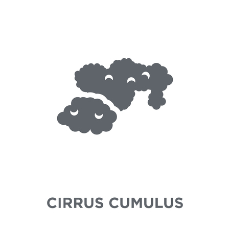 Cirrus cumulus icon. Cirrus cumulus design concept from Weather collection. Simple element vector illustration on white background. Çizim
