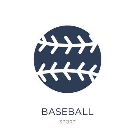 Baseball icon. Trendy flat vector Baseball icon on white background from sport collection, vector illustration can be use for web and mobile, eps10 Stock Illustratie
