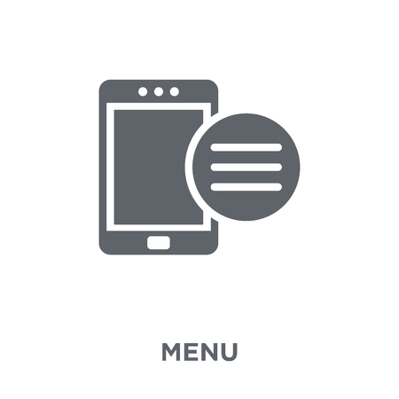 Menu icon. Menu design concept from  collection. Simple element vector illustration on white background.