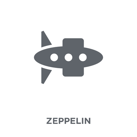 Zeppelin icon. Zeppelin design concept from  collection. Simple element vector illustration on white background. Çizim