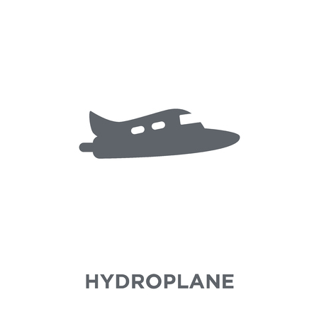 hydroplane icon. hydroplane design concept from Transportation collection. Simple element vector illustration on white background. Banque d'images - 112372369