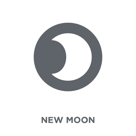 New moon icon. New moon design concept from Weather collection. Simple element vector illustration on white background.