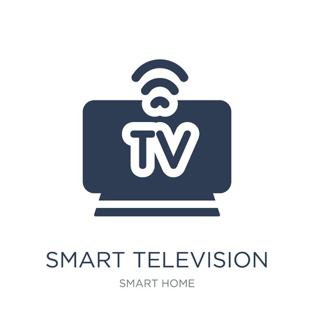 smart Television icon. Trendy flat vector smart Television icon on white background from smart home collection, vector illustration can be use for web and mobile, eps10