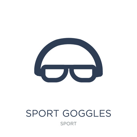 Sport Goggles icon. Trendy flat vector Sport Goggles icon on white background from sport collection, vector illustration can be use for web and mobile, eps10