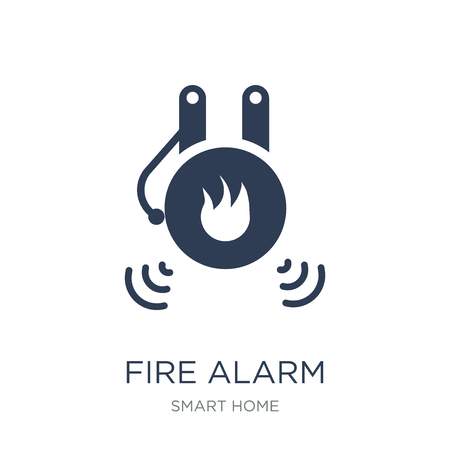 Fire alarm icon. Trendy flat vector Fire alarm icon on white background from smart home collection, vector illustration can be use for web and mobile, eps10