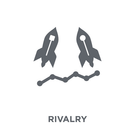 Rivalry icon. Rivalry design concept from Startup collection. Simple element vector illustration on white background. Illusztráció