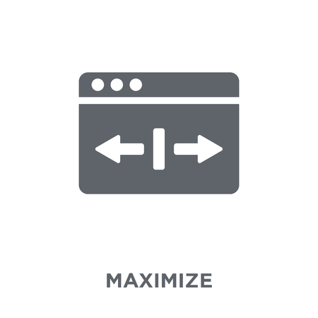 Maximize icon. Maximize design concept from  collection. Simple element vector illustration on white background.