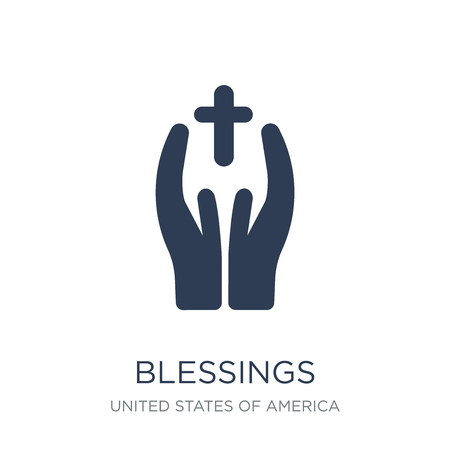 blessings icon. Trendy flat vector blessings icon on white background from United States of America collection, vector illustration can be use for web and mobile, eps10