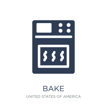 bake icon. Trendy flat vector bake icon on white background from United States of America collection, vector illustration can be use for web and mobile, eps10 Standard-Bild - 112416445