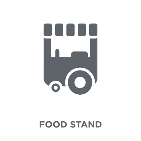 Food stand icon. Food stand design concept from  collection. Simple element vector illustration on white background. Illustration